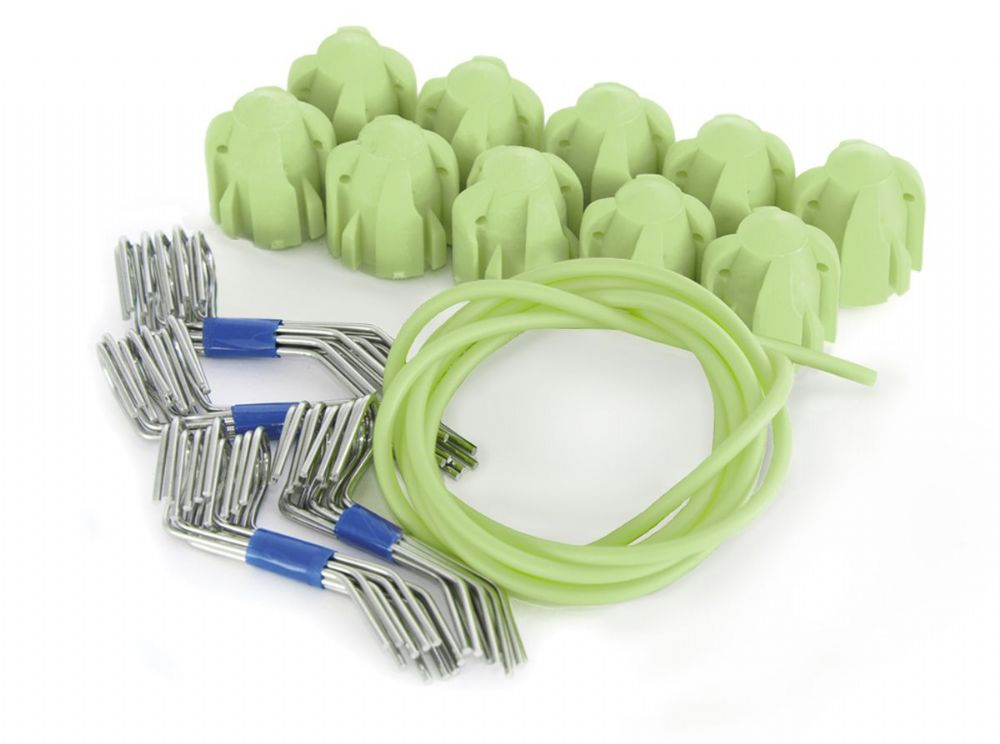 System 100+ Head Kit (10) - Glow In The Dark Heads/Standard Grips  (No Tail Wires)